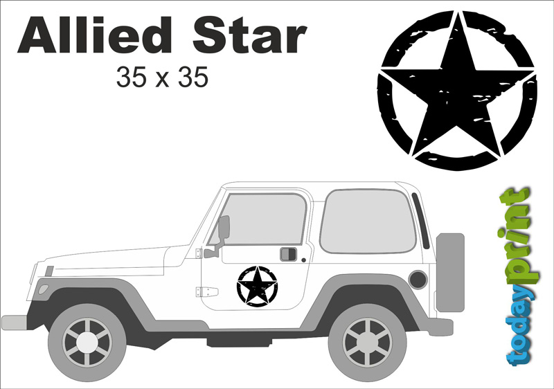 Allied Aufkleber Jeep Wrangler Rubicon Cherokee Willys