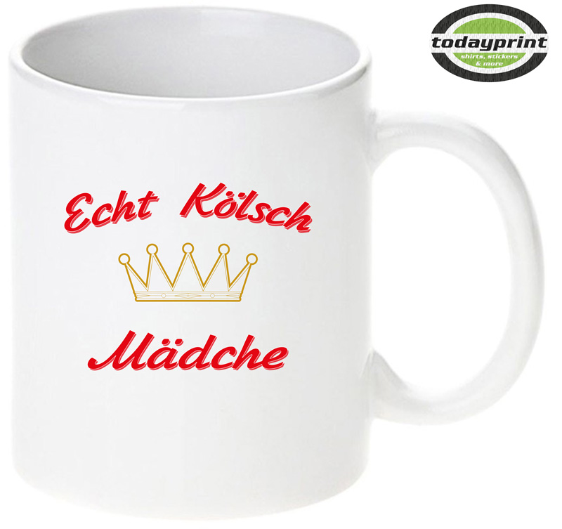 Köln, Kölsch, Mädche, FC, Cologne, Girls, Fan Tasse, Muttertag
