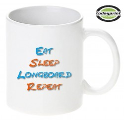 EAT SLEEP LONGBOARD REPEAT - Motiv Tasse 0,3L