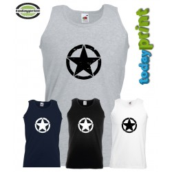 Muscle Shirt Allied Star, Muskel Shirt, Tank Top