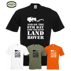 T-Shirt GOD CREATED Land Rover II