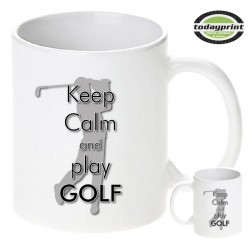 KEEP CALM AND PLAY GOLF - Motiv Tasse 0,3L
