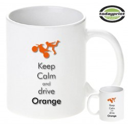 KEEP CALM DRIVE ORANGE - Motiv Tasse 0,3L