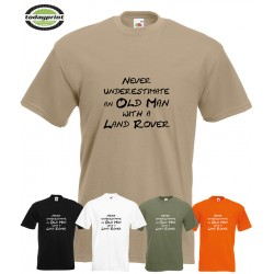 T Shirt LEGENDS NEVER DIE - Landrover, Defender, Discovery, British, Serie, Fans