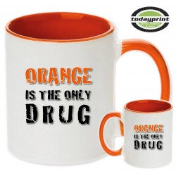 Orange is the only drug - für alle Adventure, Enduro, Supermoto, Ktm Fans Motiv Tasse 0,3L