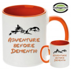 ADVENTURE BEFORE DEMENTIA - für alle Adventure, Enduro, Supermoto, Ktm Fans Motiv Tasse 0,3L