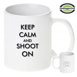 KEEP CALM SHOOT ON Tasse, für Fotografen, Presse, Foto, Sony & Nikon Fans