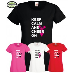 Girlie Cheerleader Shirt KEEP CALM AND CHEER ON