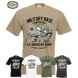 T Shirt MILITARY BASE AMERICAN LEGEND
