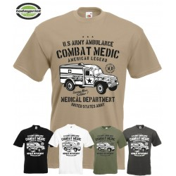 T-Shirt US ARMY AMBULANCE COMBAT MEDIC
