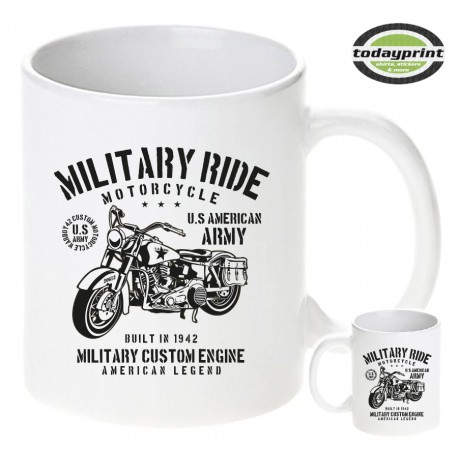 MILITARY RIDE MOTORCYCLE, US ARMY