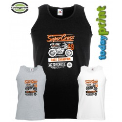 Muscle Shirt SUPER CROSS, für Enduro, Dirt, ktm, Adventure Fans