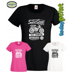 Girlie Shirt SUPER CROSS, Motocross, Shirt für Enduro, Dirt, ktm, Adventure Fans