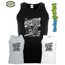 Muscle Shirt für Speedrace Motorcycle, Cafe Racer, Gespann, Biker, Old School, Scrampler