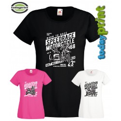 Girlie Shirt Speedrace Motorcycle, Cafe Racer, Gespann, Biker, Old School, Scrampler
