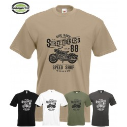 T Shirt Streetbikers, Cafe Racer, Biker, Old School Vintage Motorcycle Scrampler