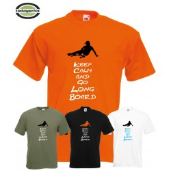 T-Shirt KEEP CALM & GO LONGBOARD