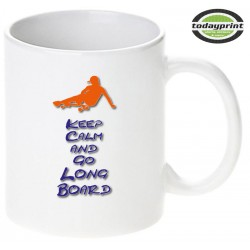 KEEP CALM AND GO LONGBOARD - Motiv Tasse 0,3L