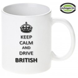KEEP CALM AND DRIVE BRITISH - Motiv Tasse 0,3L