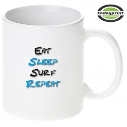EAT SLEEP SURF REPEAT - Motiv Tasse 0,3L