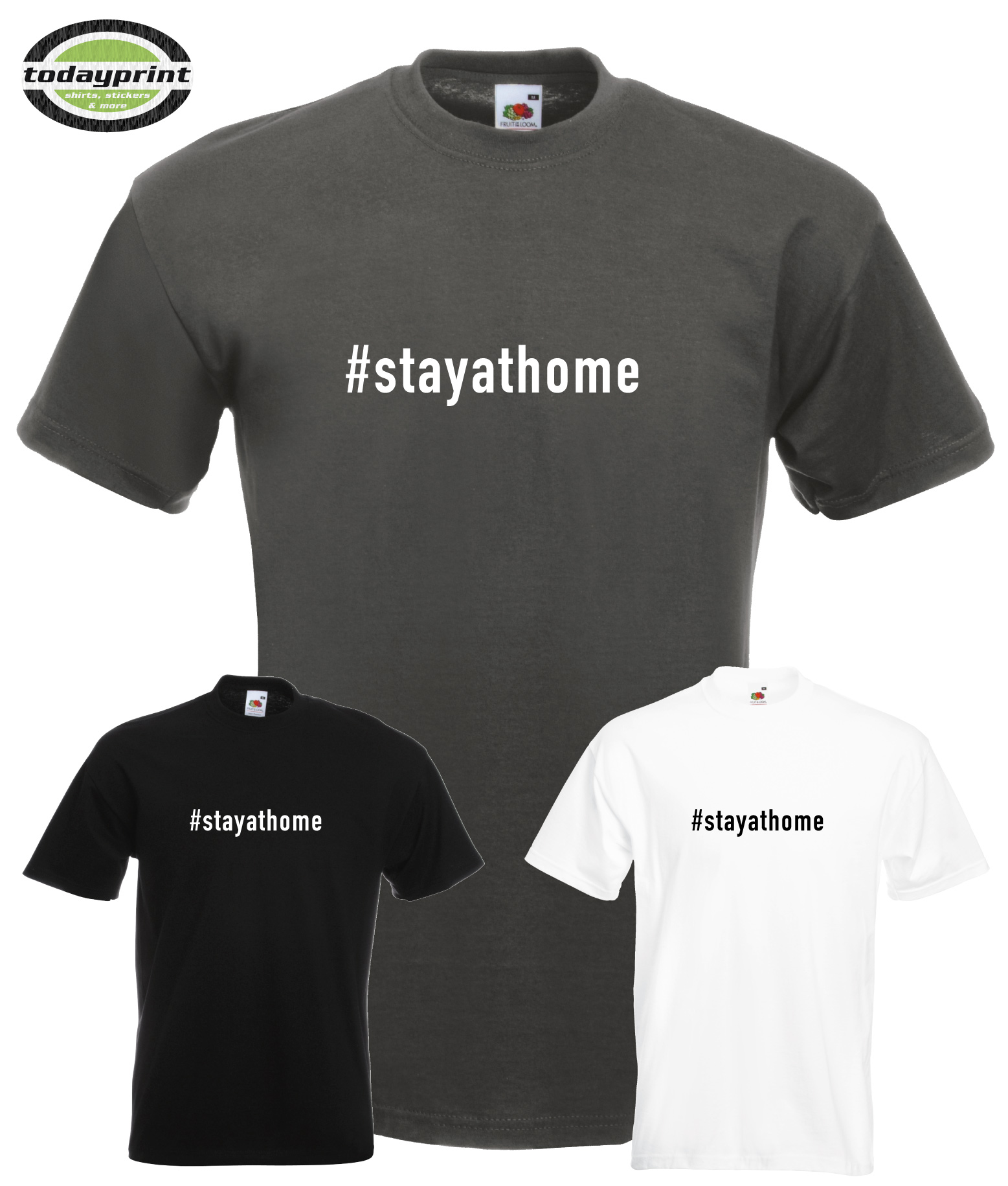 T Shirt #stayathome #flattenthecurve